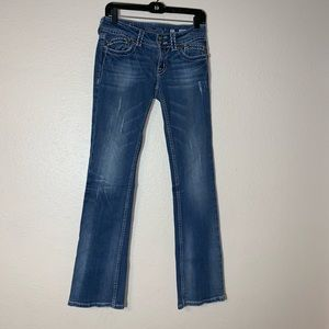 Miss Me Jeans Size 27 Bootcut Jp4897-4 Distressed